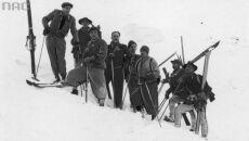 Grupa ratowników na stoku zimą, 1939 (Narodowe Archiwum Cyfrowe)