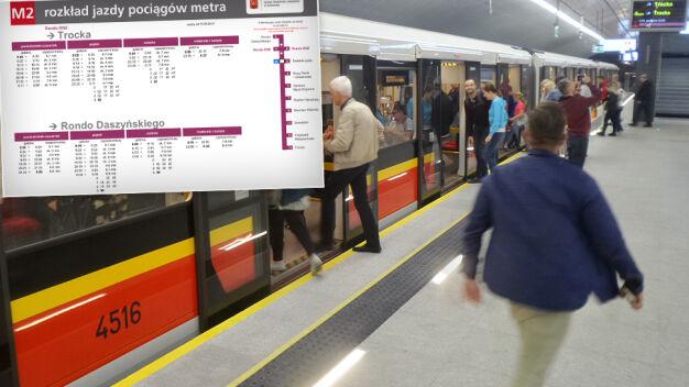 W 17 minut z jednego końca na drugi. Nowy rozkład jazdy II linii metra