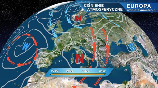 Claudius kształtuje pogodę w Polsce