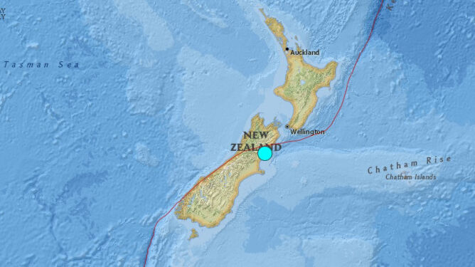 Silne wstrząsy w Nowej Zelandii