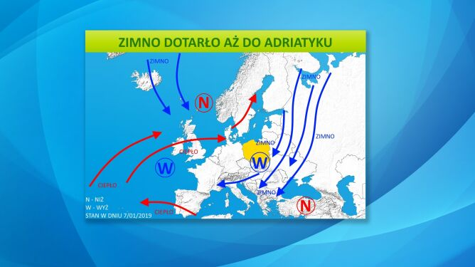 Masy powietrza i ośrodki baryczne nad Europą