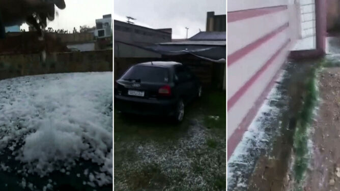 Śnieg i grad w Brazylii. Turyści są zachwyceni, rolnicy się martwią