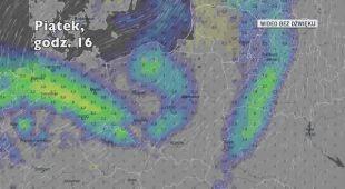 Opady w ciągu najbliżyszch pięciu dniu (Ventusky.com)