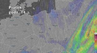 Opady w najbliższych dniach (ventusky.com   wideo bez dźwięku)